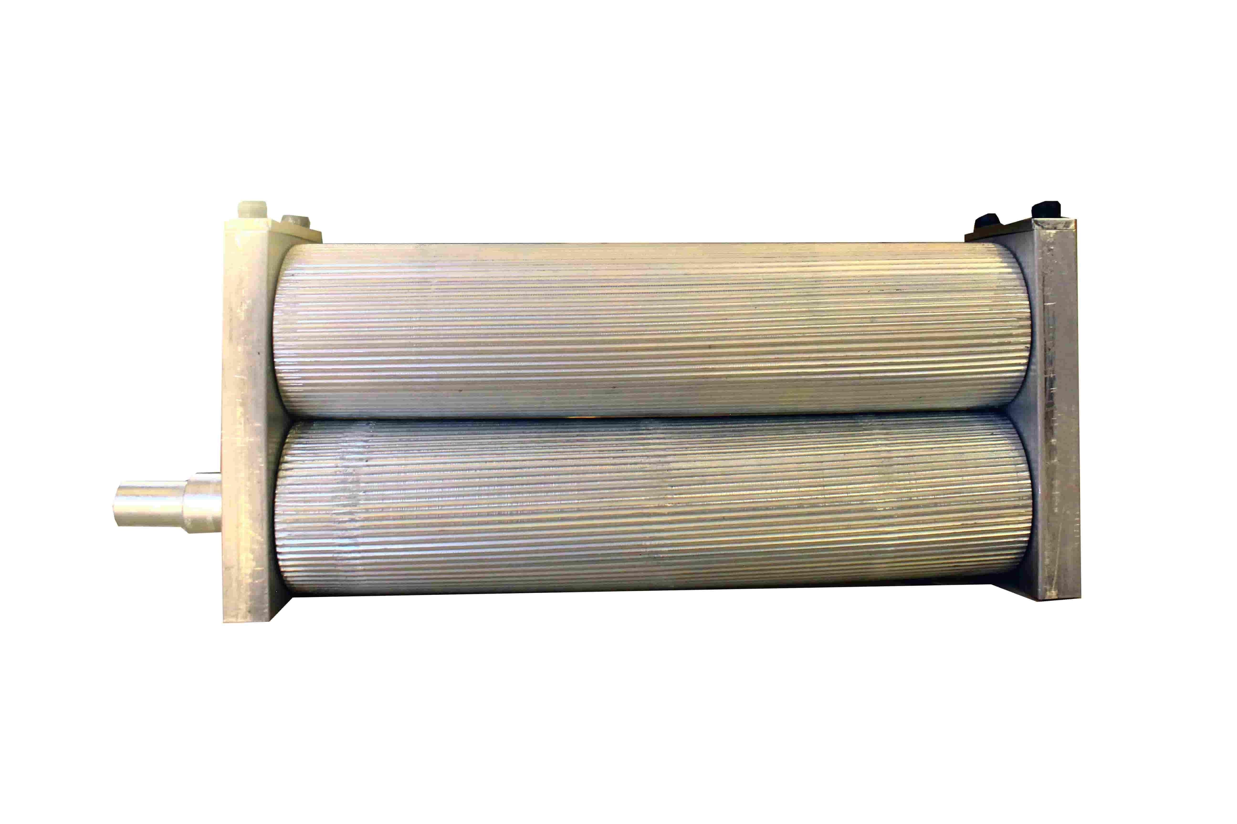 Caja de rodillos con rodamientos para molino de malta